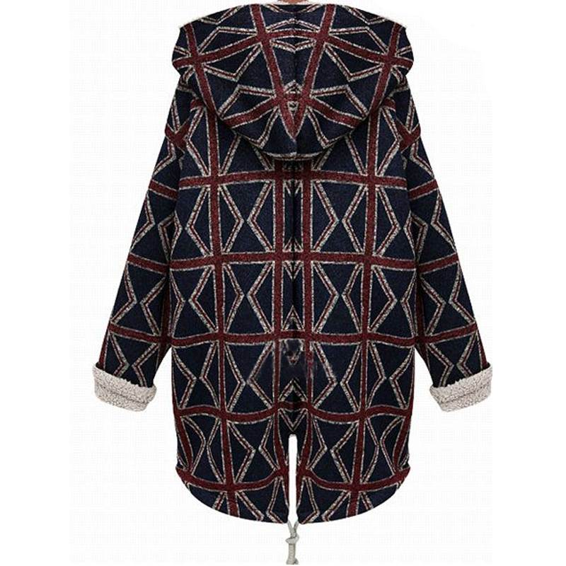 Parkas Size Plus 2018 Winter Style Geometric Coat Women M European Black Ladies Jacket Bomber Thick Casual Basic Long Fashion 5xl 504q1xdnw1