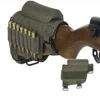 Hunting Cartridge Holster Buttstock Pouches Ammo Carrier Case Tactical Butt Cheek Rest Arms Gear Rifle Round Shot Shell Holder