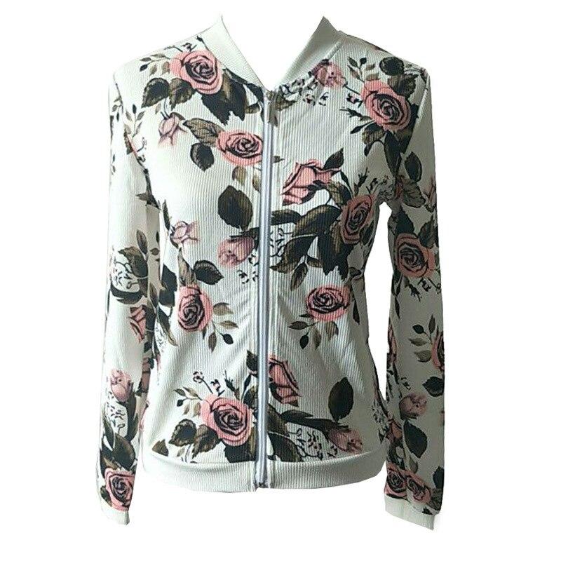 2017 Sequin   Jacket   Bomber   Jacket   Floral Women White Coat Casual Baseball   Jacket   Black   Basic   Outerwear Coats Chaqueta Mujer 3XL