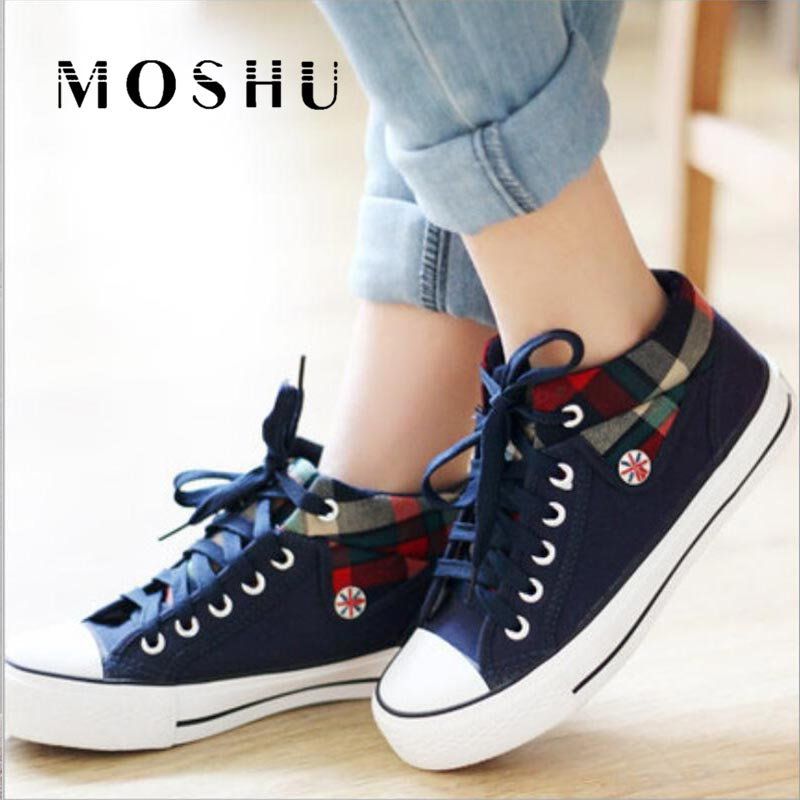 Sneakers Women Trainers Canvas Shoes Fashion Lace-up Sneakers Femme Denim Casual Chunky Shoes Tenis Feminino Zapatos Mujer 2019