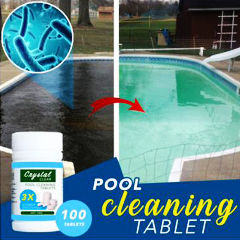 US $2.33 10% OFF|100pcs/ Bottle Pool Cleaning Effervescent Chlorine Tablets  Cage Disonfectant Swimming Pool Clarifier Chemical Floater Dispenser0-in ...