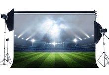 אצטדיון מקורה Bokeh שלב אורות כדורגל שדה רקע ירוק דשא אחו ספורט צילום רקע