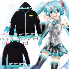 Anime VOCALOID Hatsune Miku Unisex Casual Hoodie Sweatshirt Winter Warm Hooded Jacket
