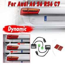 1 пара динамический сигнал поворота светодиодный задний фонарь светильник сзади индикатор светильник Модуль кабель провод подходит для Audi A6 S6 RS6 C7