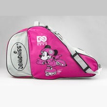 NEW 2016 Kids Adult Cute Cartoon Roller Skate Bag Portable Carry Shoulder Big Capacity Mouse Movie Gift 3 Colors