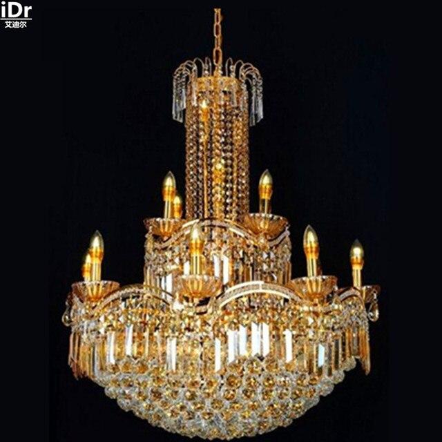 צהוב יוקרה מודרנית מנורת קריסטל מנורת נברשות תאורת זהב S Kim מסורתי מנורות led חיסכון באנרגיה Lmy-0260