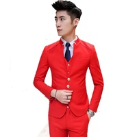 2016 new arrival high quality skinny red suits men ,casual suits men,terno,wedding adress men,size S,M,L,XL,XXL