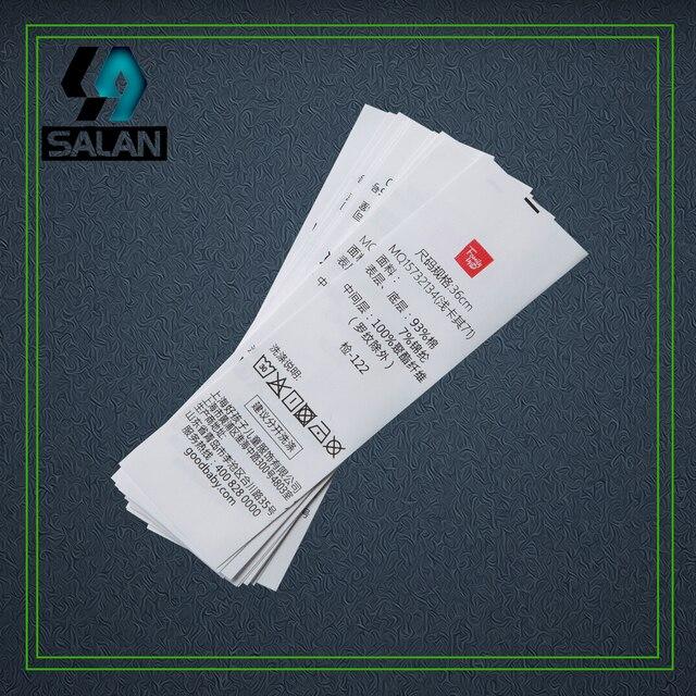 Personalizzato Sintetica nastro stampato etichette due colori logo Cucito  Tag per abbigliamento etichette di cura tessuto 4974d8574f2