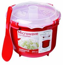 Eco-Friendly Plastic Microwave Rice Steamer Bowl 2.6L/87.9OZ Cooker sushi rice BPA Free Kitchen Utensils