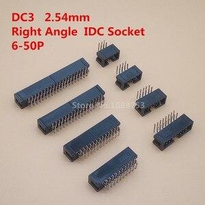 100 шт. 2,54 мм DC3 6/8/10/14/16/20/26/30/34/40/50 Pin 2x 3/4/5/7/13Pin Прямоугольный мужской кожух PCB разъем IDC для JTAG