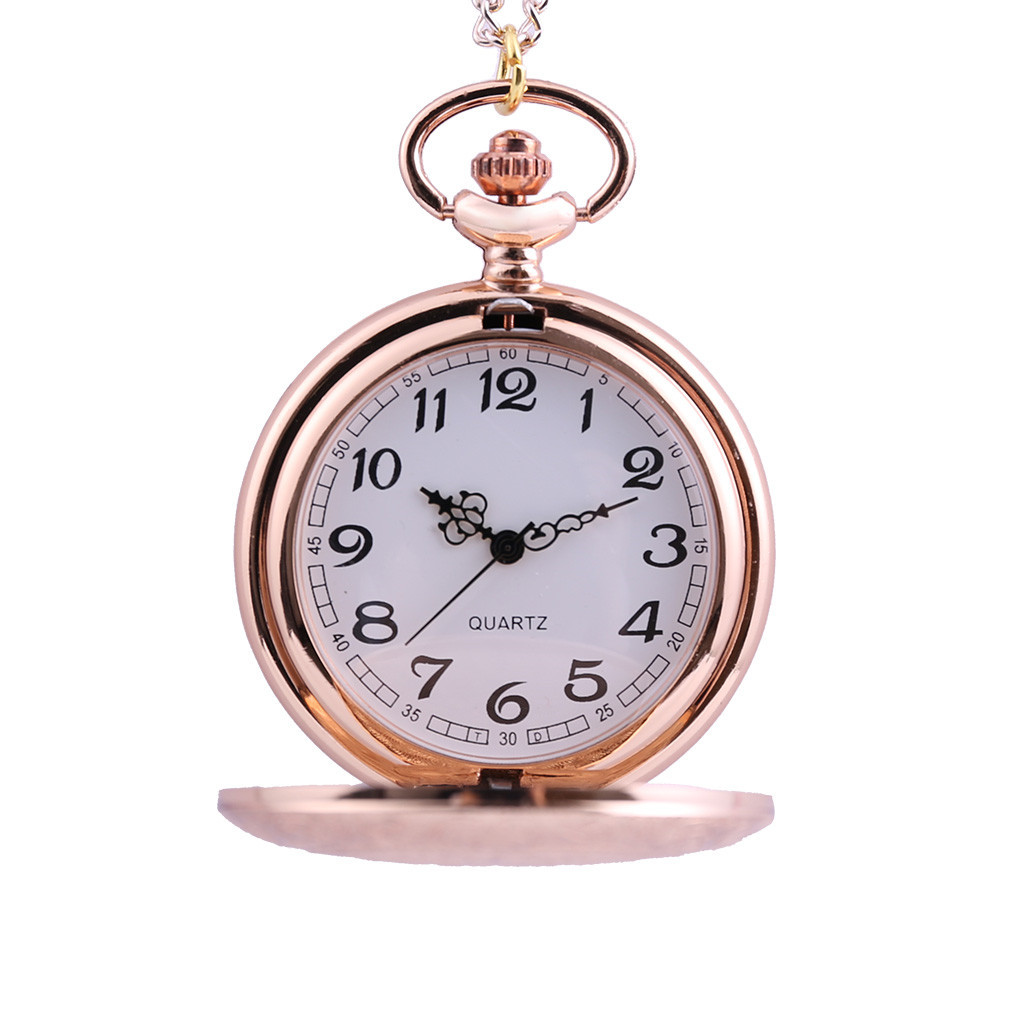 Fashion Picture Rose Pink Cute My Little Horse Pocket Watch Necklace Women Watches Quartz Hanging Table Commemorative Table LD