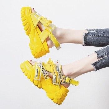 538f09e520 Sandalias de mujer de verano de Lucyever 2019 sandalias de plataforma de  cuña gruesas de Mujer