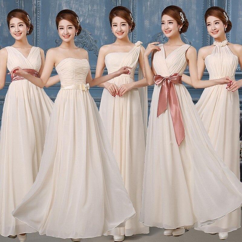Wedding Bridesmaid Dresses 2018 Bruidsmeisjes Jurken Bridal Prom Dress Plus Size Maxi Bridesmaid Dresses Long Vestido De Festa