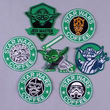 Star Wars Embroidered Patch Iron On Patches For Clothing Military Style Tactical Badges Applique Stripes Clothes DIY H