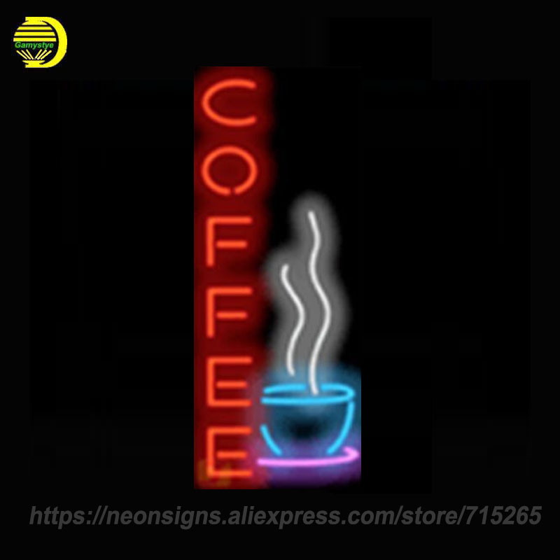 Neon Signs For Coffee Personal Neon Bulbs Sign Handcraft Decorate Room Night Light BEER Pub Display Warranty Sign Custom Size corona parrot palm tree extra neon light sign real glass tube handcraft custom logo neon bulbs recreation room wall sign vd19x15