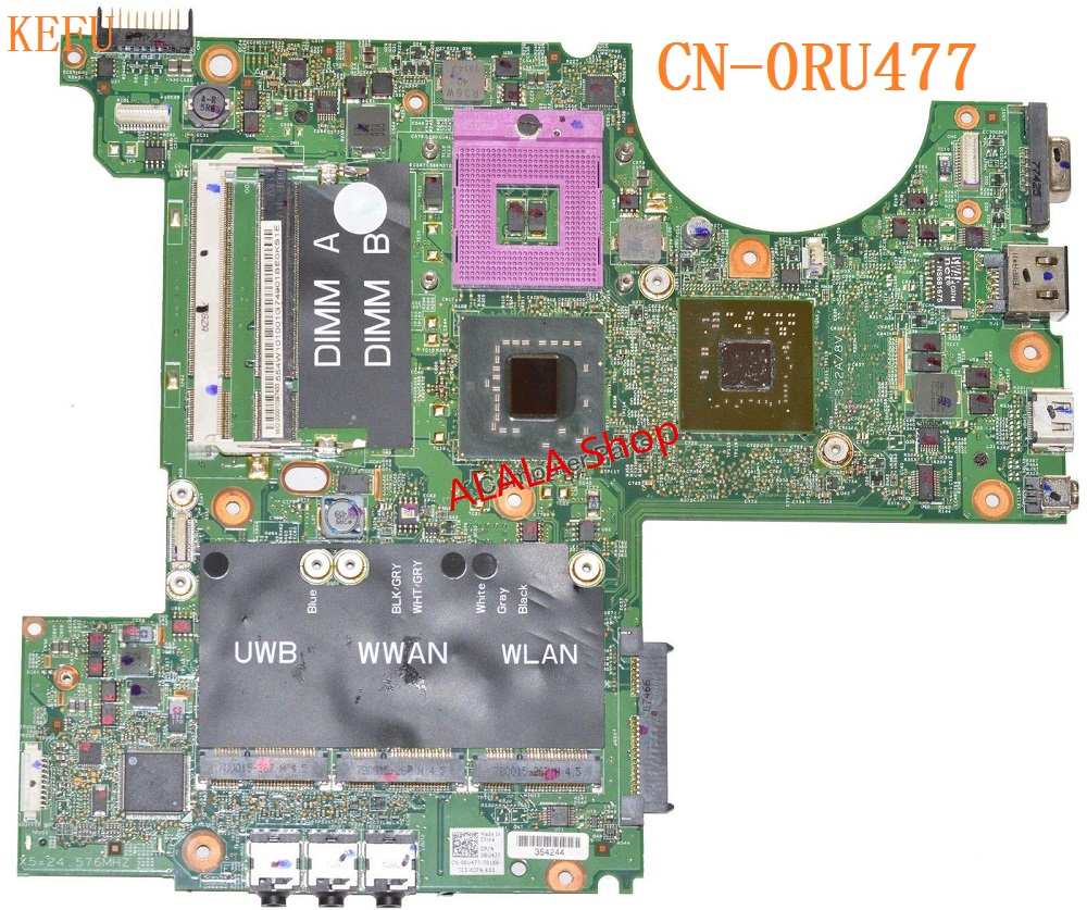 KEFU free shipping CN 0RU477 For DELL XPS M1530 Laptop Motherboard 0RU477 RU477 100 Test