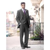 gray wedding suits for men notched lapel men tuxedos formal groom wedding suits 3 pieces groosmen suits slim(Jacket+Pants+Vest)
