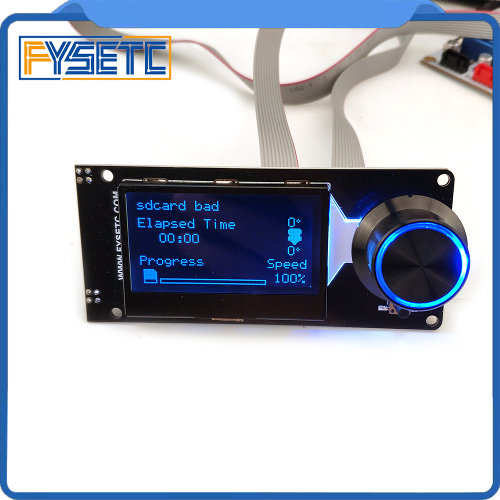 Type D mini 12864 v1.2 Smart Display MINI12864 LCD Screen White on black Supports Marlin DIY With SD Card 3D Printer Accessories