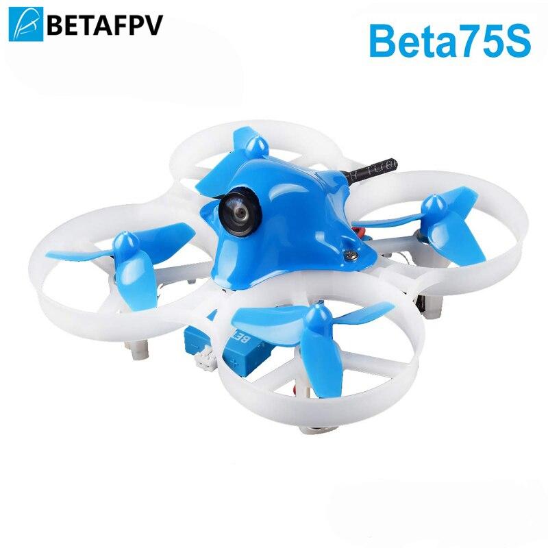 BETAFPV Beta75S نعيق Drone 1 S نحى FPV Quadcopter مع F4 FC Frsky استقبال Z02 كاميرا OSD الذكية الصوت 8X20 المحرك-في قطع غيار وملحقات من الألعاب والهوايات على  مجموعة 1