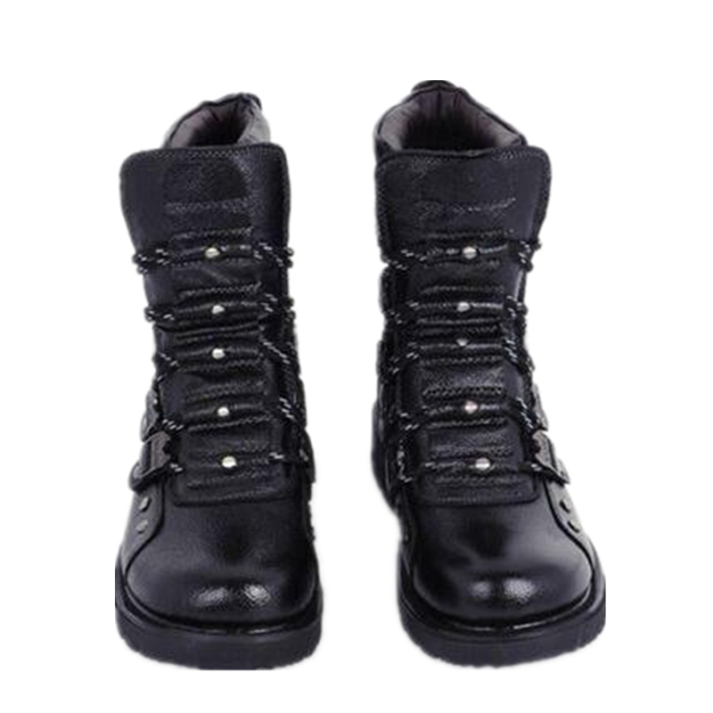martin boots leather Male tide Martin boots-in-tube leather Korean men boots EURO 39-44 boots