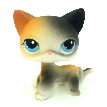 Really Rare Pet Shop Lps Toy Action Standing Collection Short Hair Cat White Pink Black Orange Tiger Cat Lps Dog Dachshund Colli цена 2017