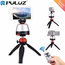PULUZ Electronic Tripod 360 Degree Rotating Panoramic Tripod Head w h Remote Controller For GoPro Iphone