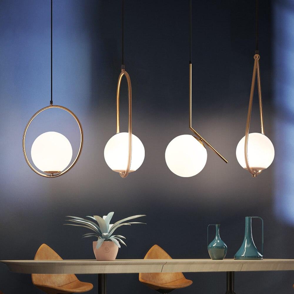 Postmodern Pendant light Nordic Art Deco Suspended Lamp Dining Room Coffee Shop Hanging Lights Bar Bedroom Bedside Led Light