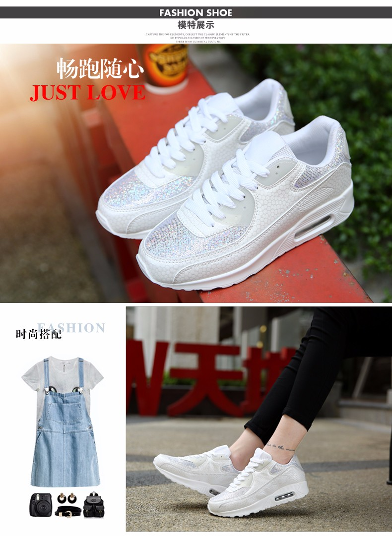 Fashion KUYUPP Wedges Women Trainers Breathable Sport Sequined Cloth Casual Shoes Outdoor Walking Shoes Zapatillas Mujer YD36 (17)