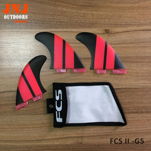 luxury surfboard FCS II G5 M fins 3pcs a set surfing thruster made of fiberglass with a bag
