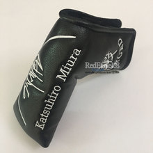Cooyute wholesale Golf headcover Bear pattern PU T Golf Putte headcover Unisex black Golf Clubs head cover Free shipping