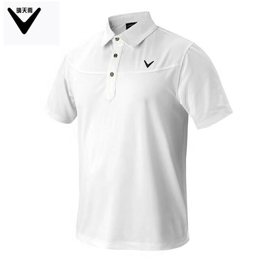 CALLAWAV Mens Golf T-shirt short sportwear outdoor Shirts summer Quick-dry breathable Short sleeve Button collar Golf Shirts