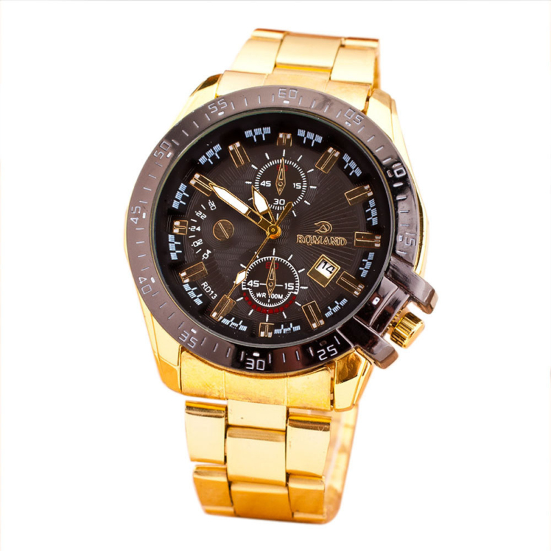 Splendid 2018 Watches men luxury brand watch quartz men full steel Gold wristwatches Date Sport Fashion watch relogio masculino 2016 skmei watches men luxury brand quartz watch men full steel wristwatches dive 30m fashion sport watch relogio masculino