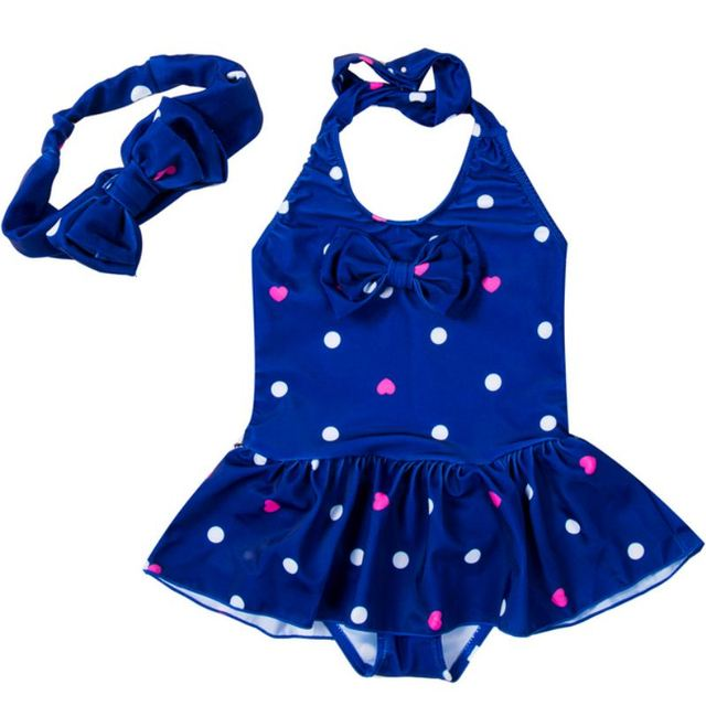 1 To 8 Years One Piece Suits Kids Girls Swimwear Baby Girl 2pcs Printing Dot Tankini Bikini Set Swimsuit Bathing Suit Beachwear | healthy feet socks