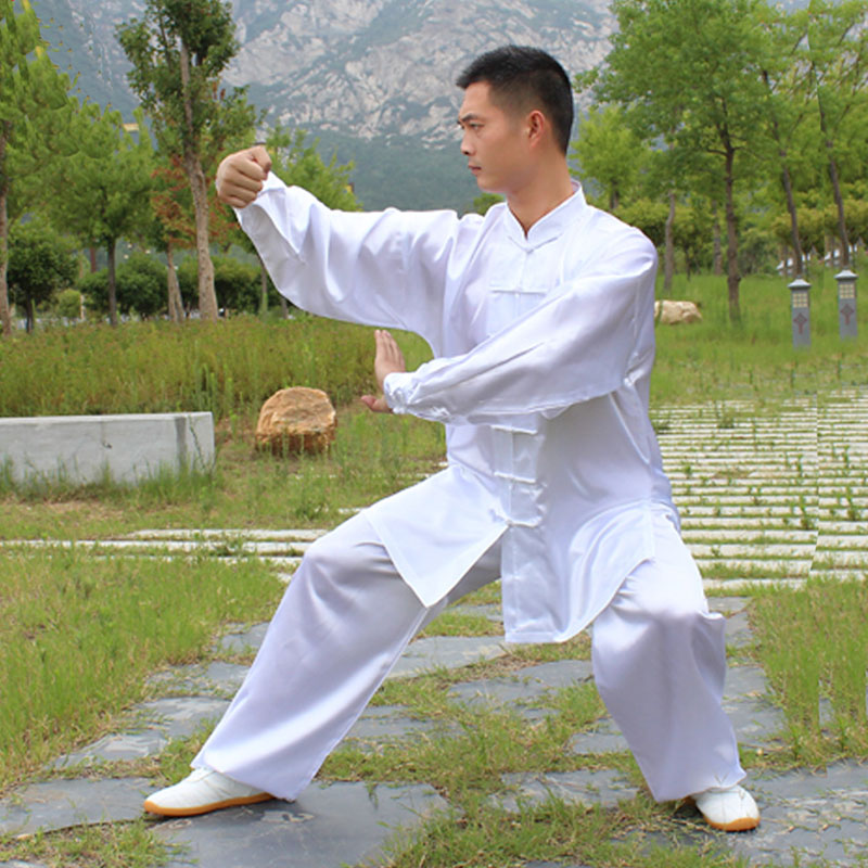 USHINE HX11 White Blue Yellow Tai Chi Performance Clothing Long Sleeve KungFu Uniform Wushu TaiChi Uniform Clothes Man Woman