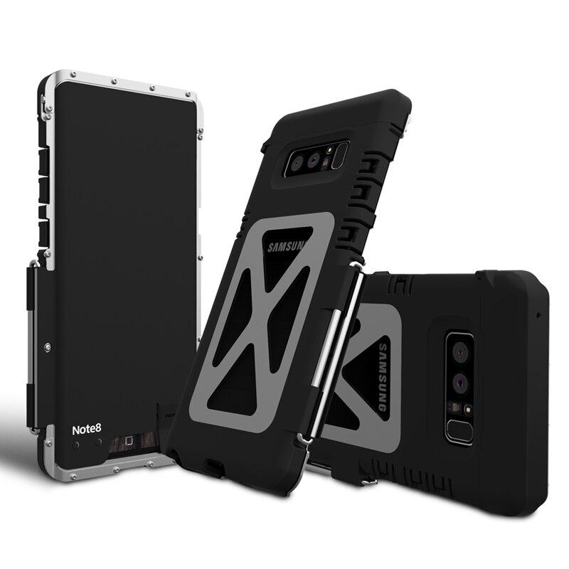 Téléphone d'origine étui pour samsung Galaxy Note 8 En Acier De Luxe En Métal Flip étui pour samsung Galaxy Note 8 Dur Complet Housse de Protection