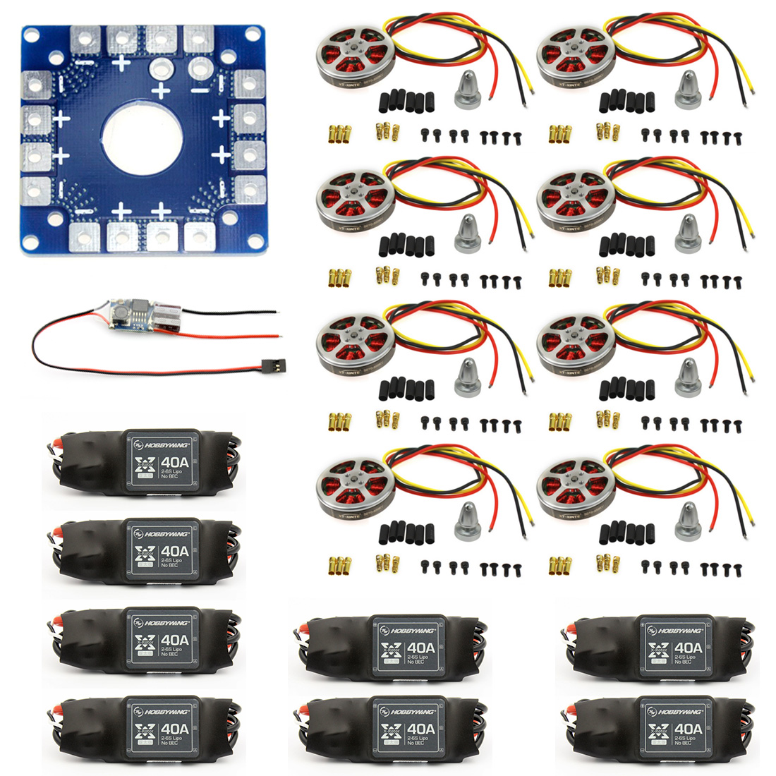 8 Sets 350KV Brushless Disk Motor High Thrust W/ Mount + xt-xinte 40A ESC for 3-6s Octacopter Multi Rotor Accessory F05423-B8 Sets 350KV Brushless Disk Motor High Thrust W/ Mount + xt-xinte 40A ESC for 3-6s Octacopter Multi Rotor Accessory F05423-B