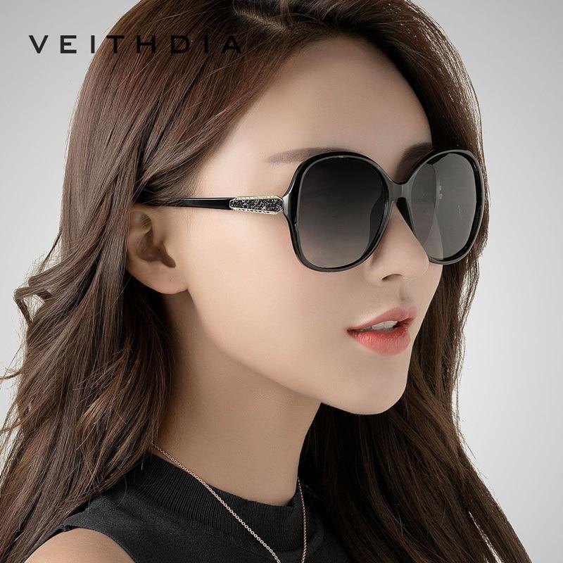 VEITHDIA 2018 New Vintage Women s Sunglasses Polarized Brand Designer Fashion Driving ladies diamond Sun Glasses