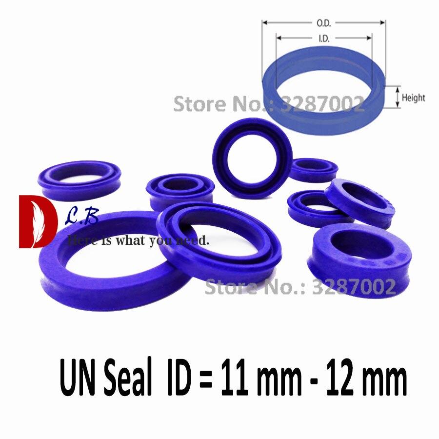 2 PCS 4-14mm PU Rod Seal Hydraulic U-Cup UN-Type For Hydraulic Piston Cylinder