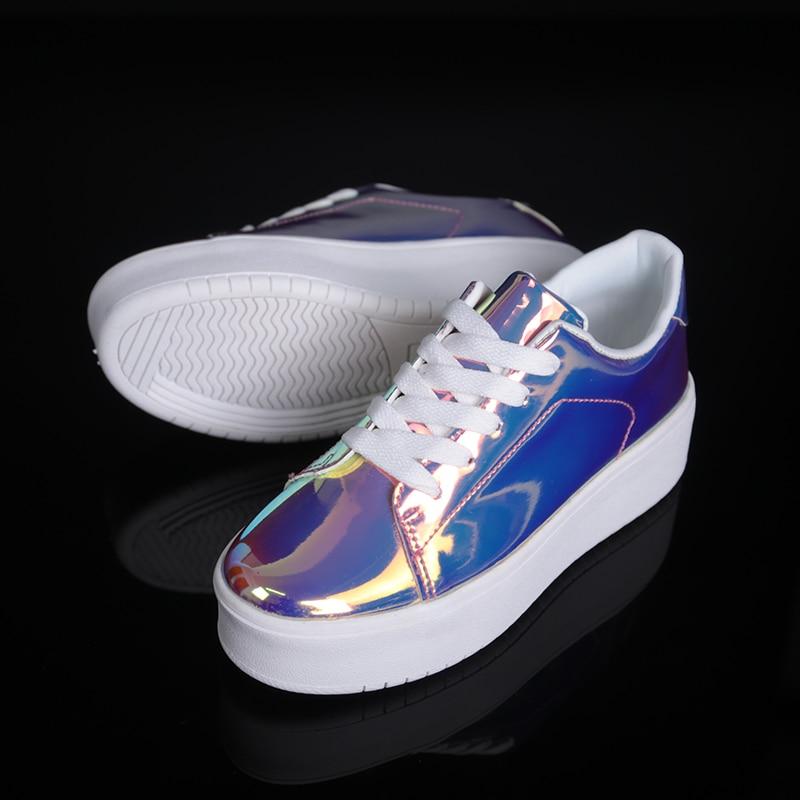 Image 4 - 2019 New Women Chunky Sneakers Casual Shoes Spring Autumn Fashion Platform Shoes Glitter Woman Luxury Shoes Women DesignersWomens Vulcanize Shoes   -
