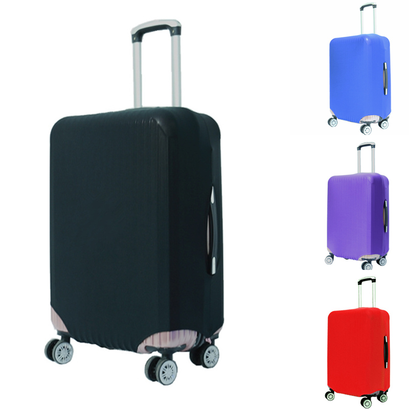 Drop Shipping Suitcase Protective Trunk Covers Case Elastic Travel Luggage Cover Stretch Trolley Dust Apply To 18~30 Inch цена