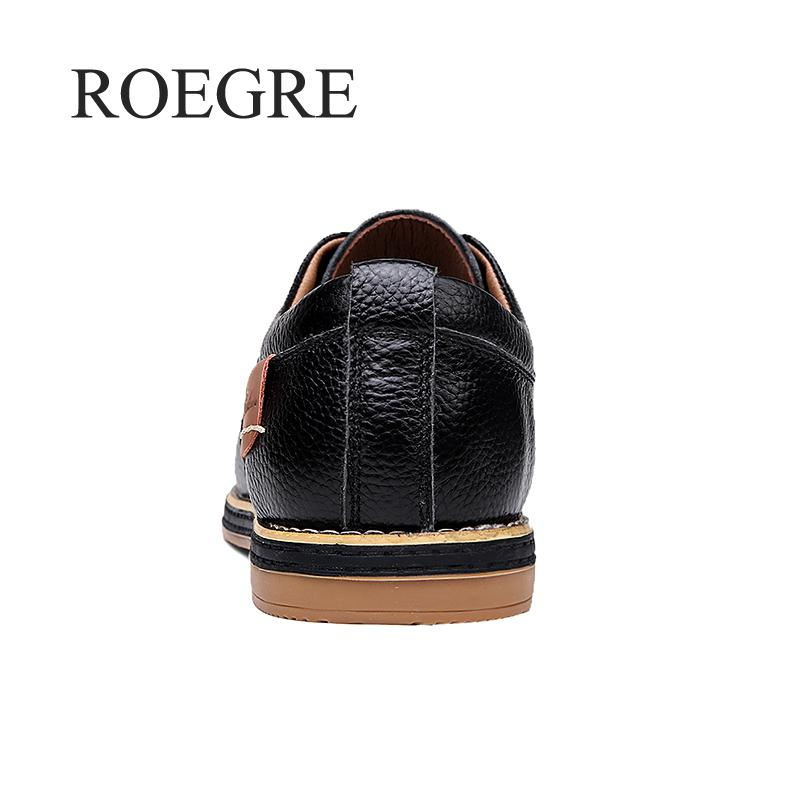 2019 New Men Oxford Genuine Leather Dress Shoes Brogue Lace Up Flats Male Casual Shoes Footwear Loafers Men Big Size 39-45 3