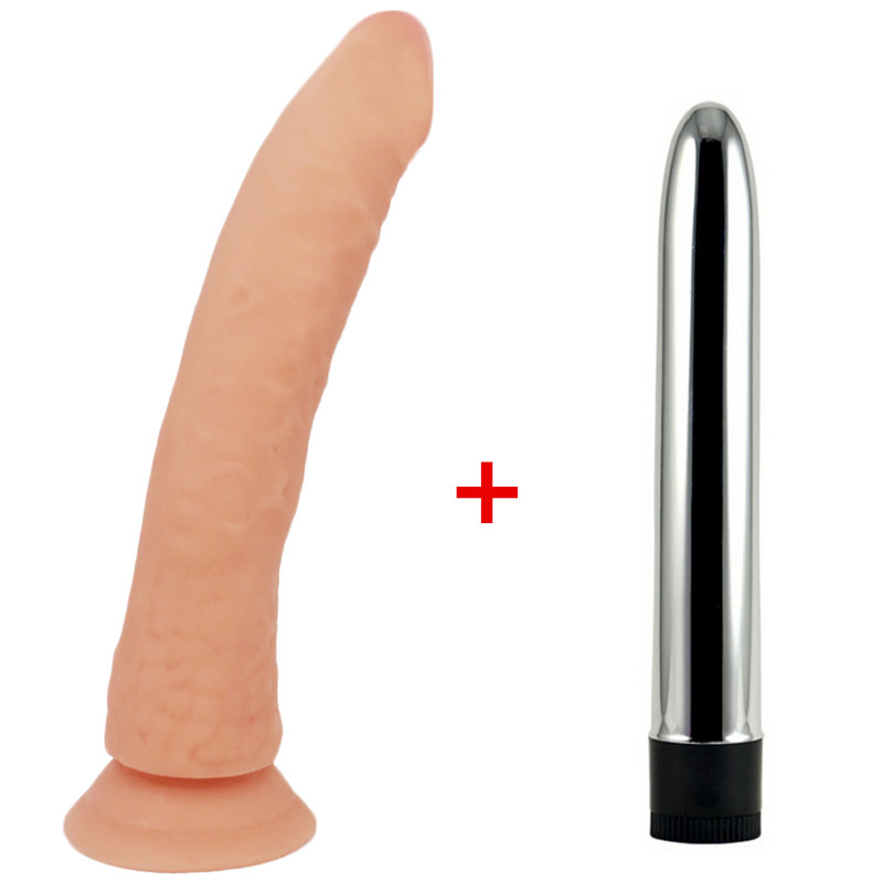 21cm long Big Dildo Realistic Jelly Penis with Strong Suction Cup dildo & Vibrator big cock Sex Toy for Woman Adult Sex Products