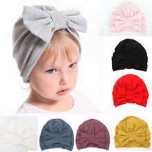 2019 Cute Babies Kid Beanies Newborn Infant Toddler Kid Baby Boy Girl Turban Bowknot Soft Cotton Beanie Hat Cap Photo Props цена 2017