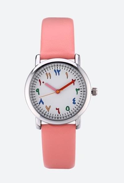 Luxury Leather kids Watches Wristwatch Fashion Araba number student Bracelet Fem