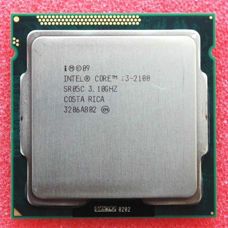 الأصلي إنتل كور i3 2100 معالج 3.1 جيجا هرتز/3 ميجابايت مخبأ/ثنائي النواة