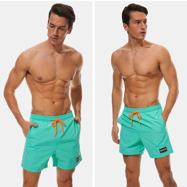 New Quick dry Summer Mens Board Shorts Solid Color Mens Siwmwear Shorts Beach Wear Briefs For Men Board Shorts M L XL XXL