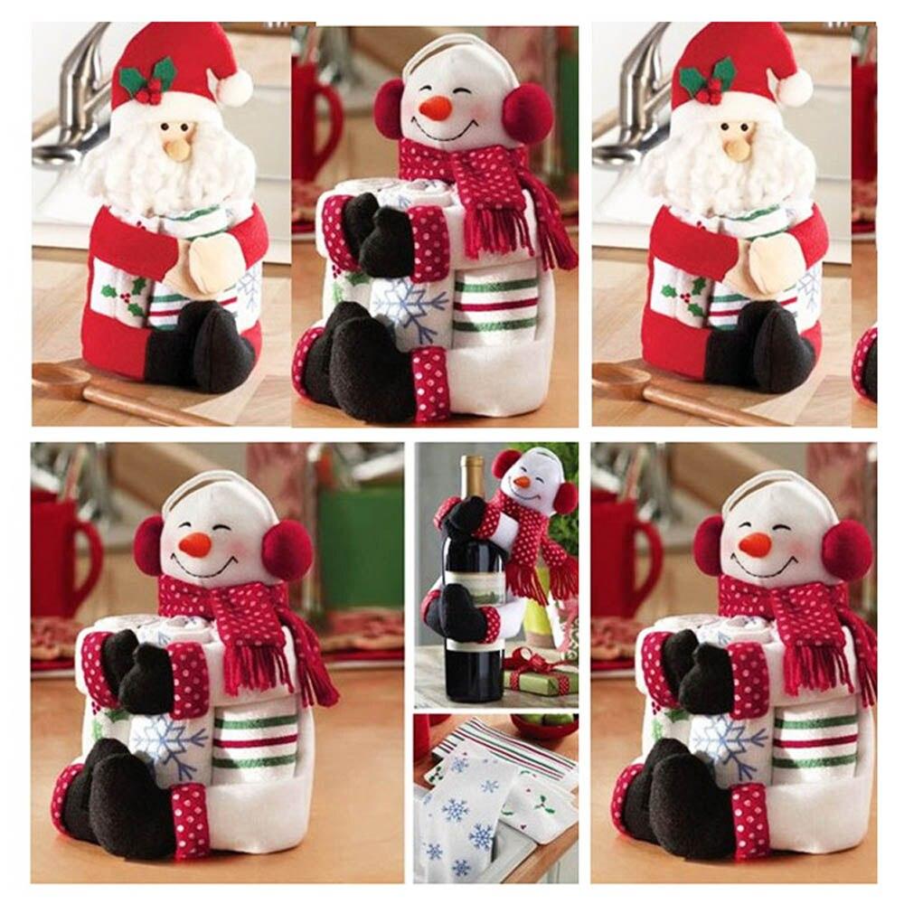 Buy christmas wine hold towels hold - Decoracion de interiores navidad ...