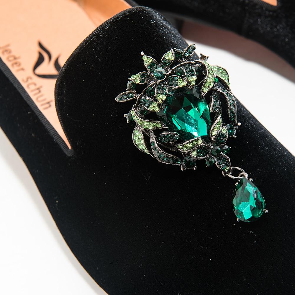 Couro Casamento De Flats Loafers Shoes Jeder Grátis Casuais Fivela E Black Sapatos Partido Homens Schuh Dos Flor Do Metal Nova 0wSqwZ