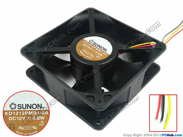 SUNON KDE1212PMB1-6A R Server Square Cooling Fan DC 12V 6.8W 120x120x38mm 3-wire набор столовых приборов vitesse 24 предмета vs 1796 page 1