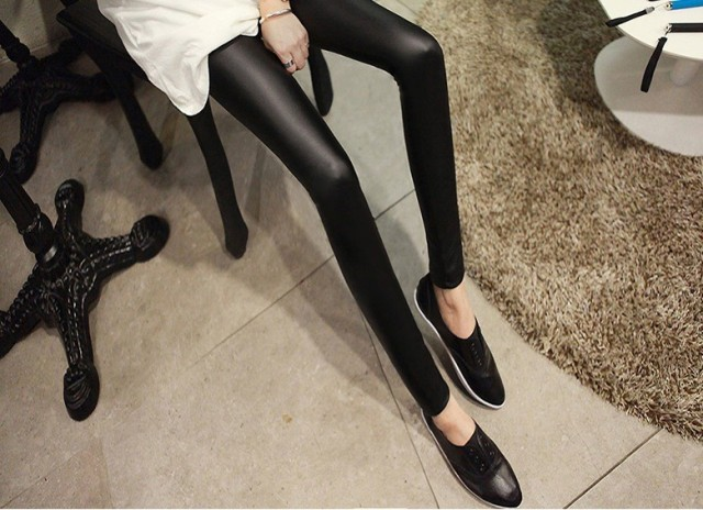 Sexy Skinny Leather Leggings